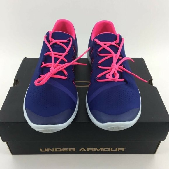Under Armour Girls Blue Pink Sneakers